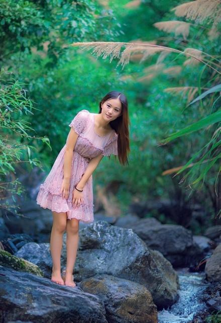 张家界魅力风景与漂亮妹妹图片-第6张图-风景与美女